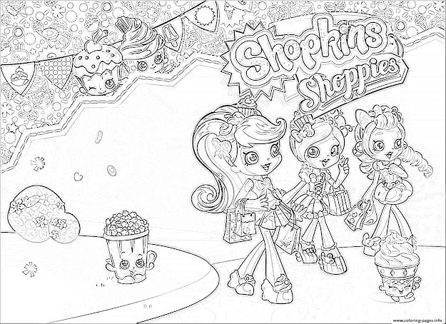 Print Shopkins Shoppies Girls Coloring Pages