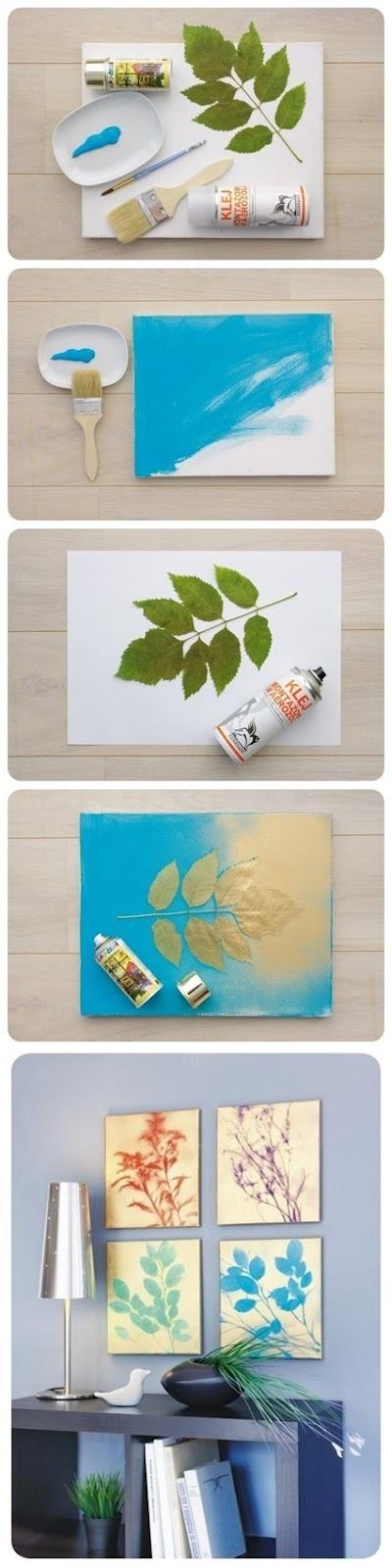 yapraki tablo, diy, el yapımı