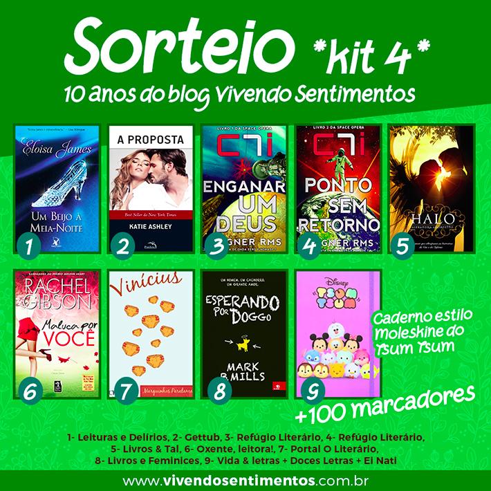 Sorteio de aniversário do blog Vivendo Sentimentos: concorra a muitos livros e marcadores