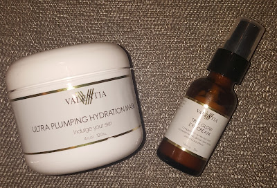 Valentia True Glow Eye Cream and Ultra Plumping Hydration Mask