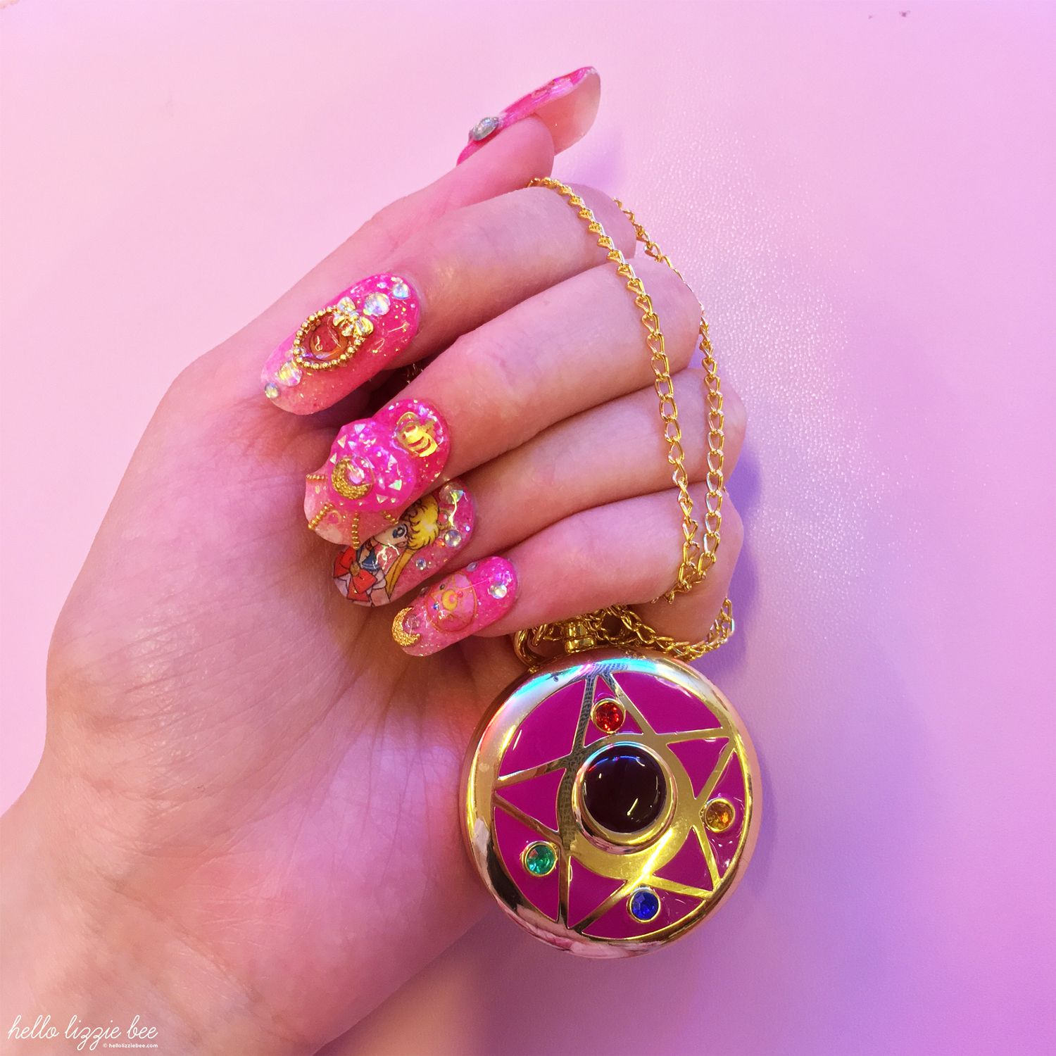 sailor moon gyaru nails