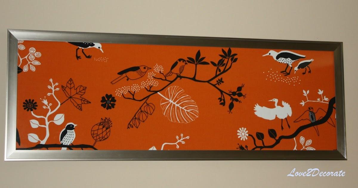 love 2 decorate frame fabric wall art. Black Bedroom Furniture Sets. Home Design Ideas