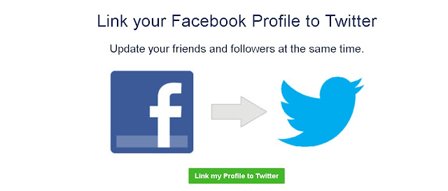 How to link a twitter to facebook account