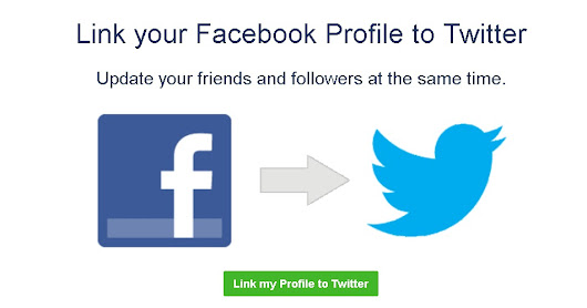 How to link your Facebook account to Twitter account.