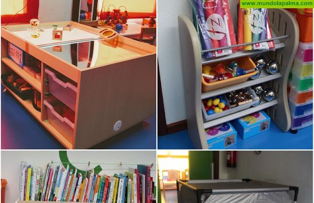 La Escuela Infantil de Tijarafe renueva su material, siguiendo la filosofía Reggio Emilia