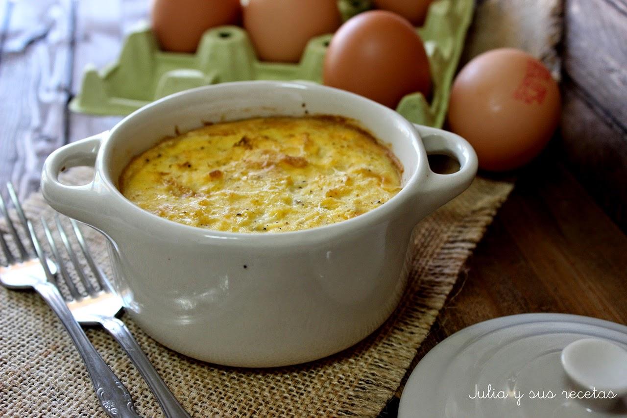 Huevos a la soubise. Julia y sus recetas