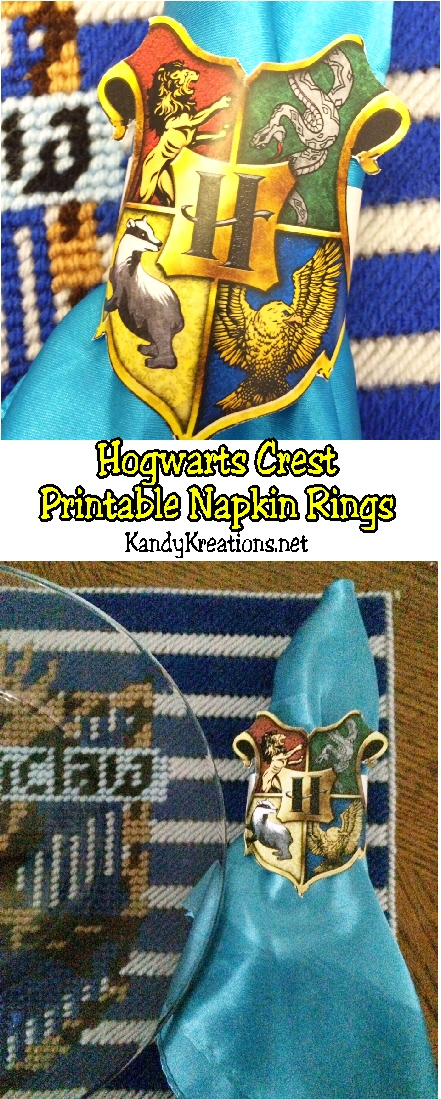 photo relating to Hogwarts Crest Printable named Hogwarts Crest Napkin Ring Printables Each day Get-togethers
