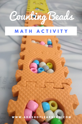 Counting Beads: Math Activity for Preschool and Toddlers