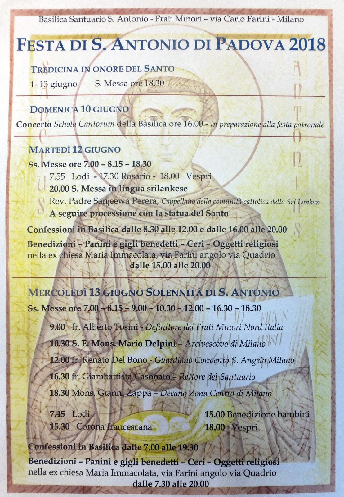 Festa di S. Antonio di Padova 2018