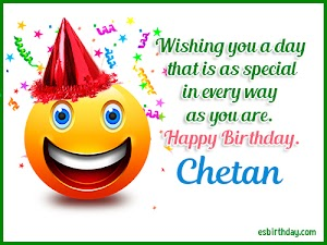 Happy Birthday Chetan