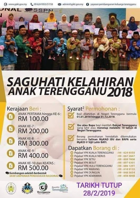 Borang Permohonan Saguhati Kelahiran Anak Terengganu 2018