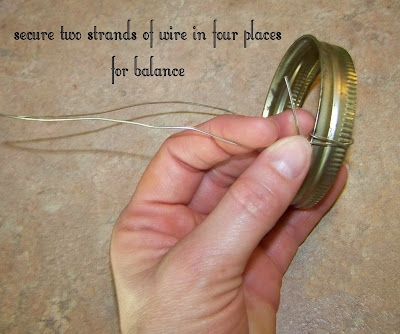 Secure two strands in four places for balance