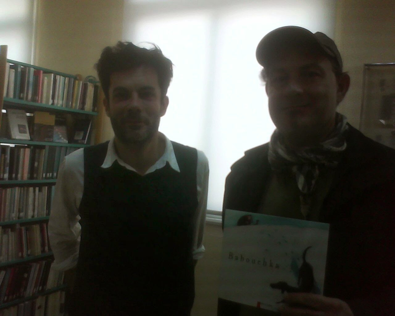 during the presentation of  the  work of  french comics  maker Olyvier TALLEK  IN French institute