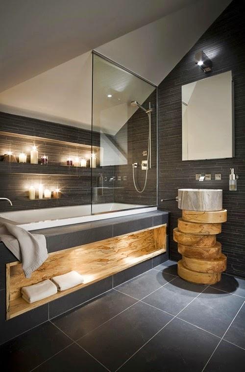 Baño moderno rústico