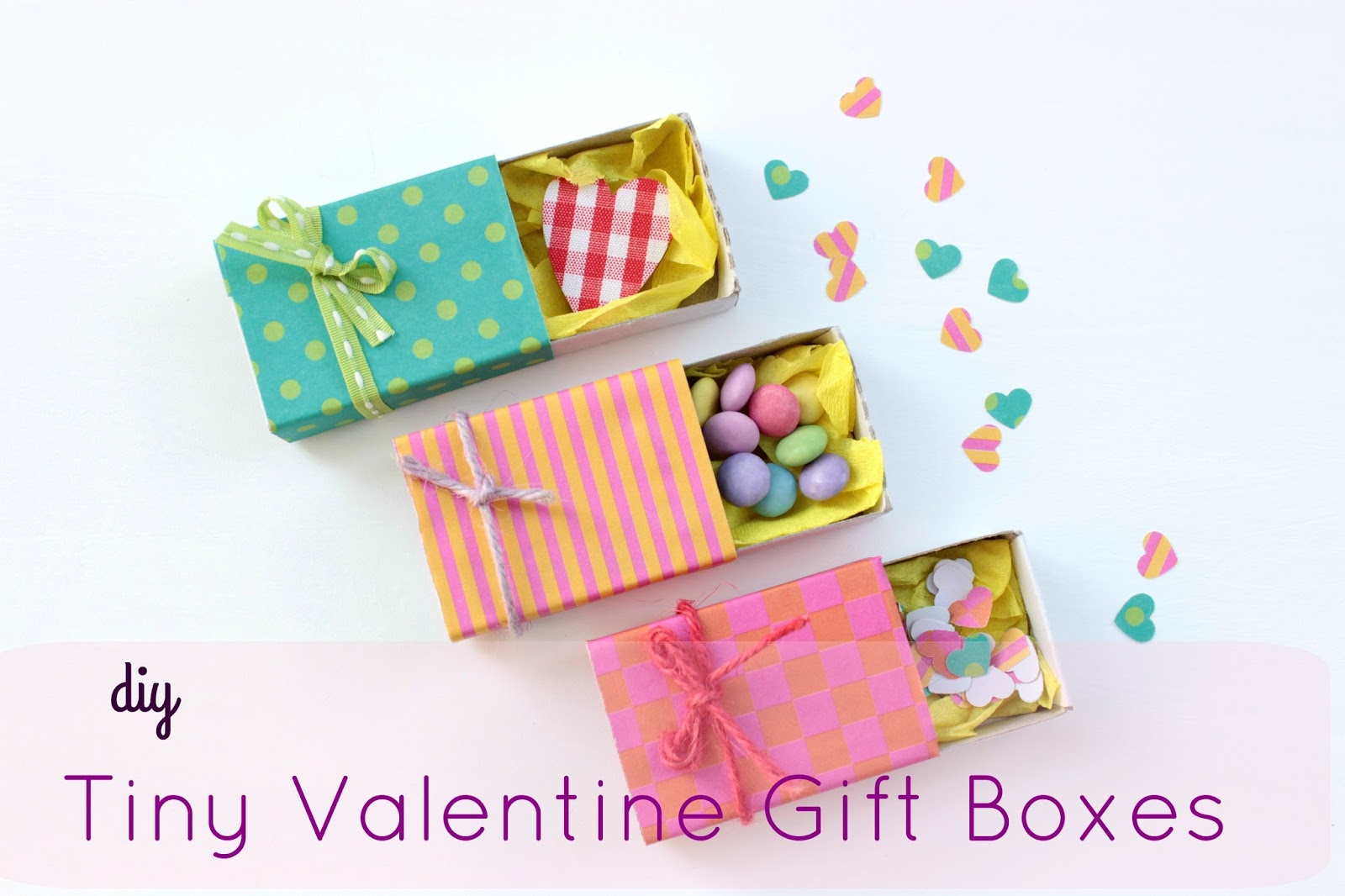 Diy Tiny Valentine Gift Boxes ευ ζήν Creations Bloglovin