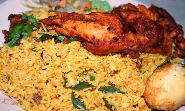 برياني دجاج هندي حار
