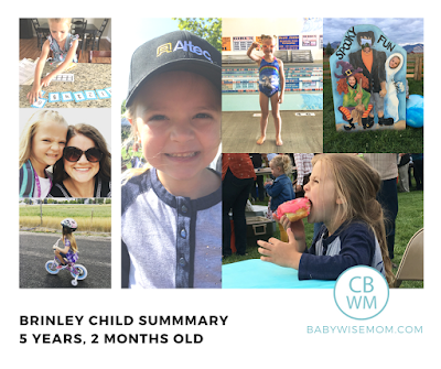 Brinley Child Summary: 5 Years and 2 Months Old