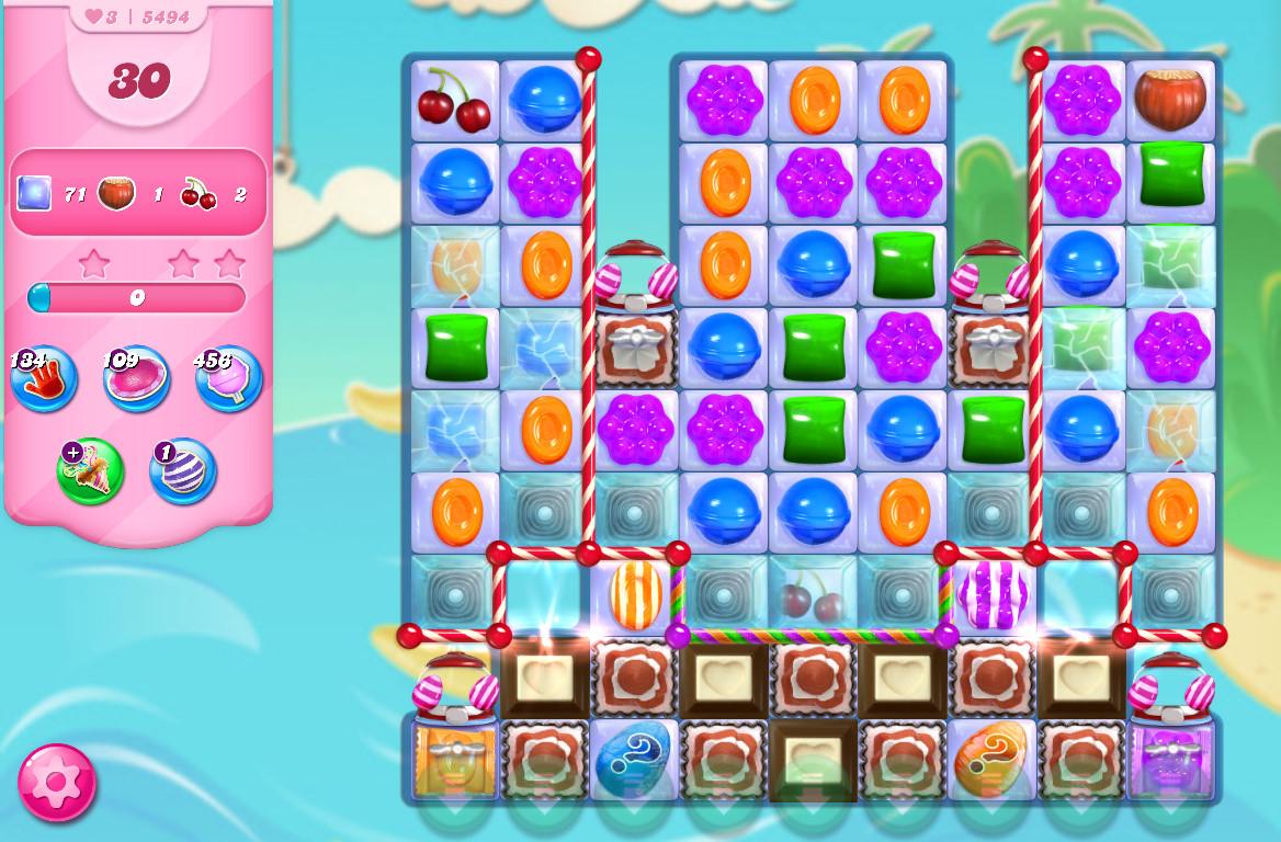 Candy Crush Saga level 5494