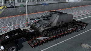 German WoT tanks on trailers pack