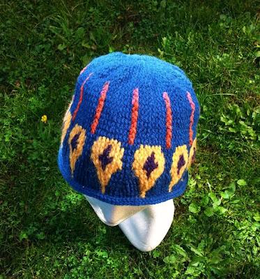 czapka z grubej welny