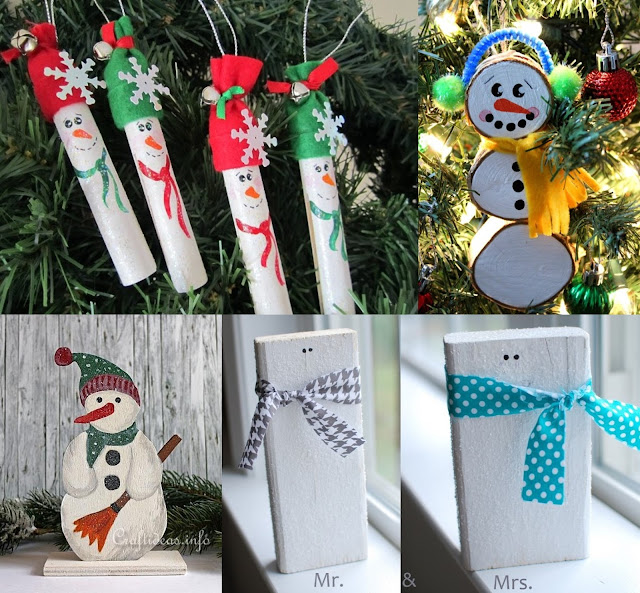 Simple Wood Snowman Craft Ideas For Christmas