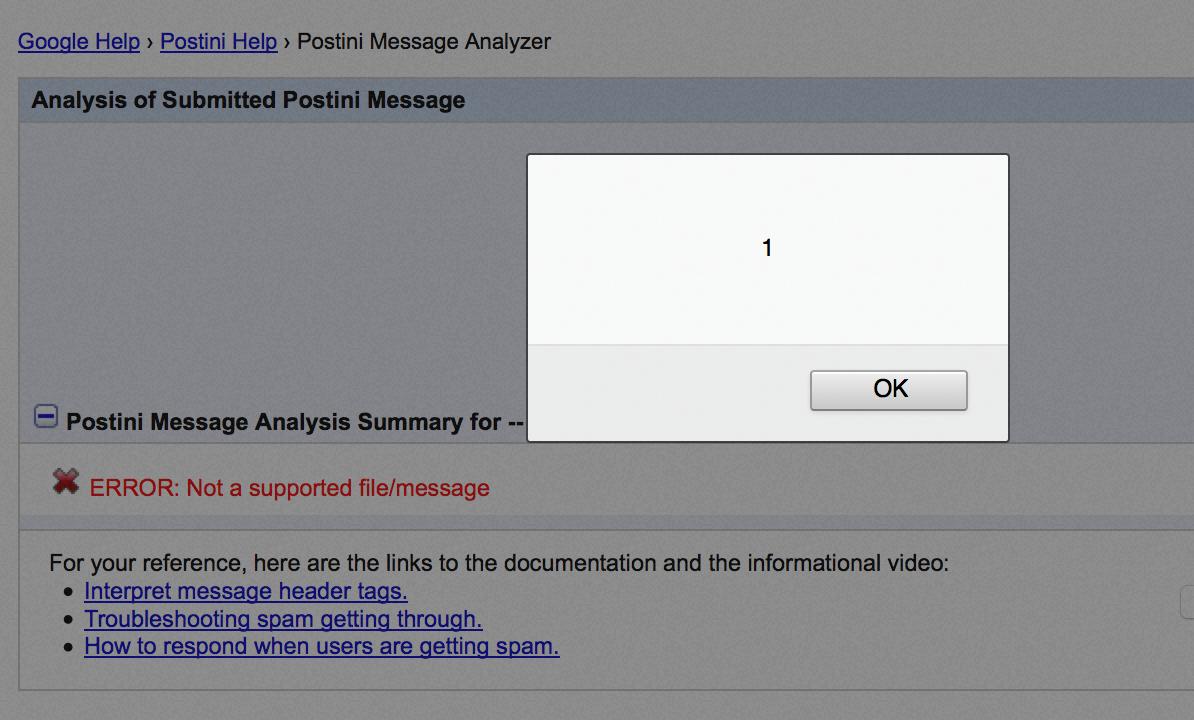 XSS via file upload - www google com (Postini Header Analyzer) | MB blog