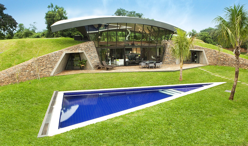 The Flower Shaped Underground Eco Home of Gary Neville