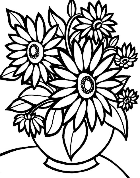 Flower Bouquet Coloring Pages Printable  Flower Bouquet Coloring