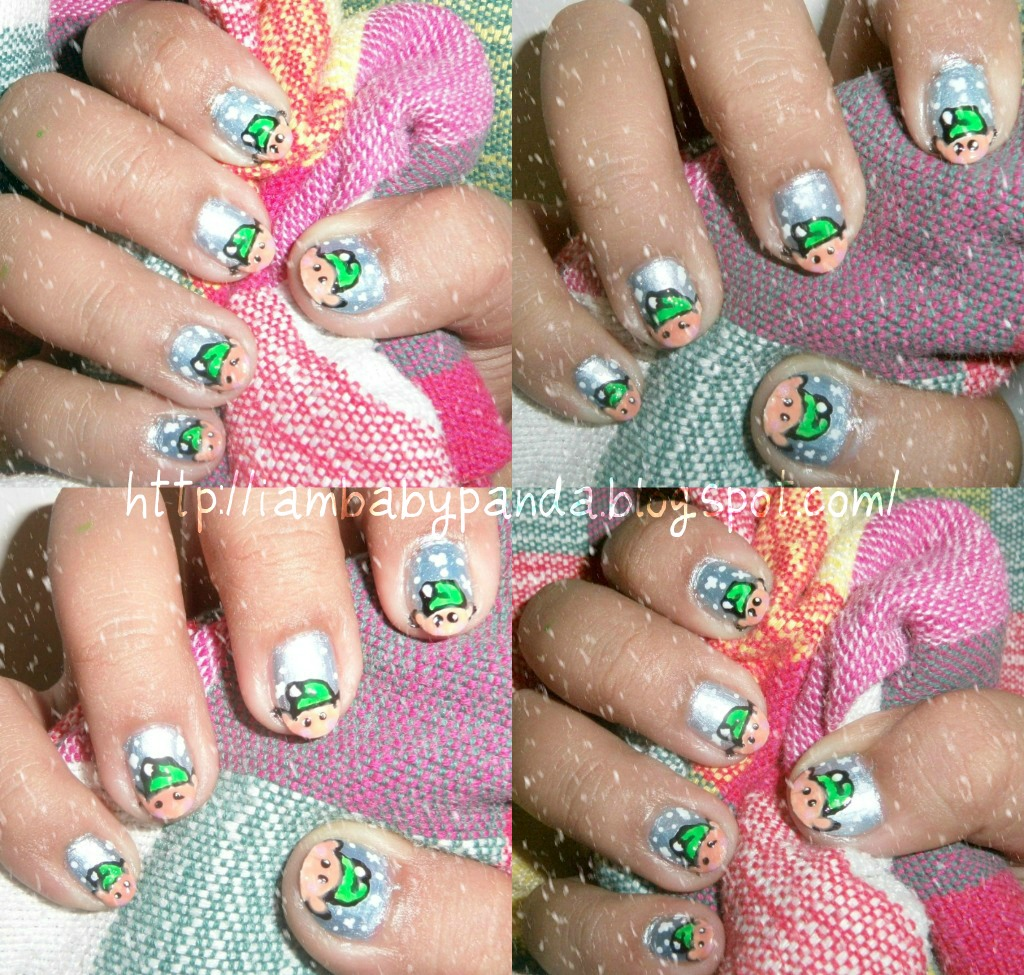 Christmas Nails Elf: Iambabypanda: Mani Monday: Santa's Elves Nail Art Tutorial