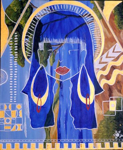 la femme sacrée Jannick Farrugia Artiste peintre