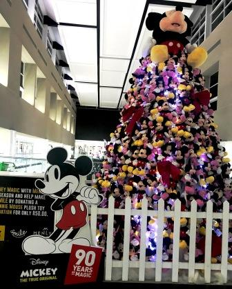 Disney Mickey plush toys Christmas tree