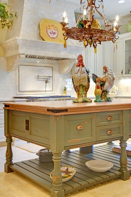 This Is A Lovely Example Of How Roosters Are Used As Decor In French County  Styled Kitchens.