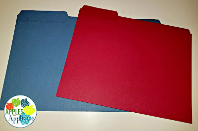 Keeping Organized with Two Half Day Classes. Color coded student files. | Apples to Applique