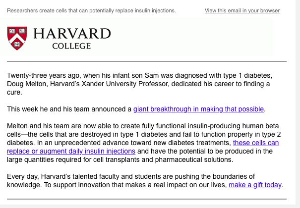 The Tree of Life: Harvard, hope and hype: the sad reason