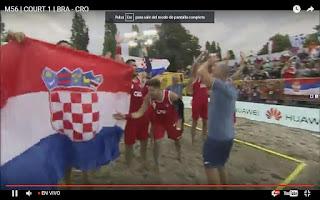 Croacia campeón mundial beach handball