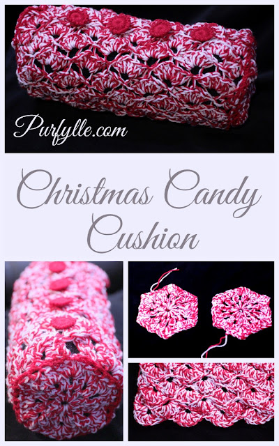 Crochet Christmas Candy Cushion