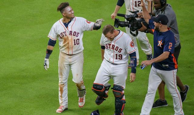 La victoria 58 de los Astros de Houston en la temporada 2018 de Grandes Ligas corrió por cuenta de Yulieski Gurriel