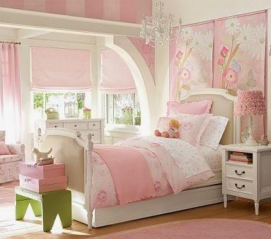 Cuarto para niña e rosa y verde