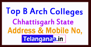 B Arch Colleges in Chhattisgarh