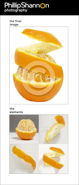 Food Photographer orange peel image