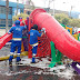 Praça recebe mutirão de limpeza da Prefeitura de Nilópolis