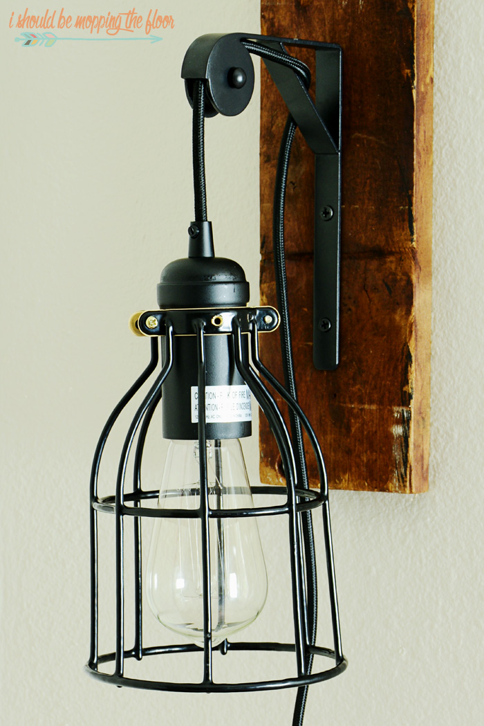DIY Industrial Light Fixture | Make this vintage fixture for a lot less money than buying the pre-made ones. No electrical experience needed and just very basic DIY skills. Goes together in an hour.