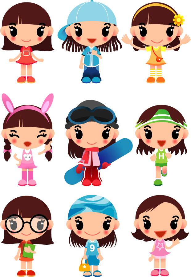 vector free download girl - photo #14