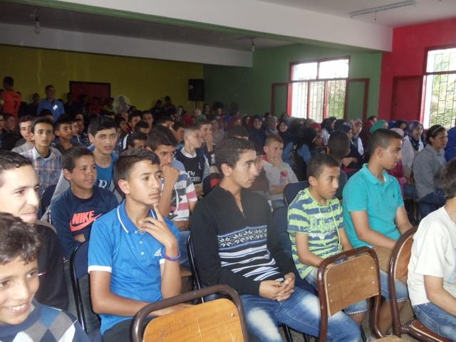 اختتام الدورة الأولى للمسابقة الكبرى بين الأقسام بالثانوية الإعدادية عمر الجيدي اسطيحة بمديرية شفشاون