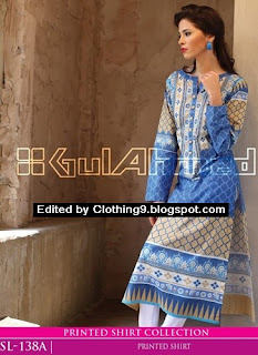 Gul Ahmed midsummer digital kurti collection 2015