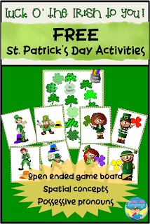 Lucky you! Get free St. Patrick's Day printables at Looks Like Language!