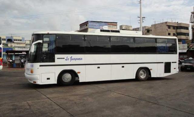 48 personas fueron robadas dentro de un autobús en Anzoátegui