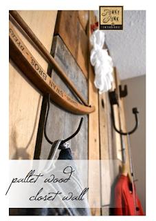 pallet wood closet wall