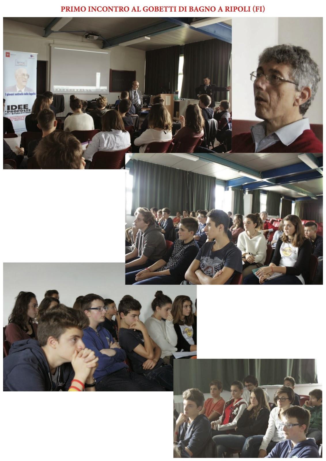 Giovani sentinelle ottobre 2013 - Liceo gobetti bagno a ripoli ...