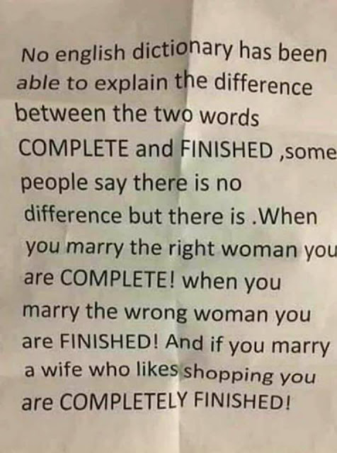 The Difference Between COMPLETE And FINISHED
